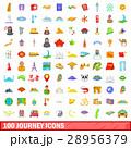100 100 行程のイラスト 28956379