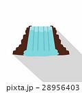Niagara Falls, Ontario, Canada icon, flat style 28956403