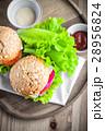 チーズバーガー ご飯 サンドの写真 28956824