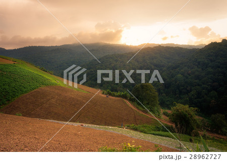 sunset mountain landscape view point  28962727