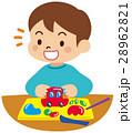ねんど遊びをする子供 28962821