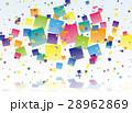 背景 キューブ デジタルのイラスト 28962869