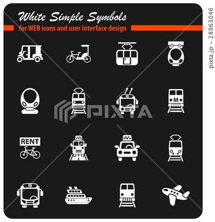 public transport icon set 28963046