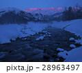 モルゲンロート 夜明け 白馬の写真 28963497