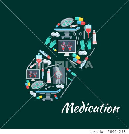Pill poster of vector surgery medicine items 28964233