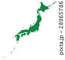 地図 日本地図 日本のイラスト 28965786