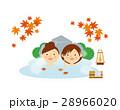 女性 ペア 温泉 もみじ イラスト 28966020