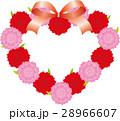 ベクター ハート 花のイラスト 28966607