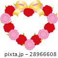ベクター ハート 花のイラスト 28966608