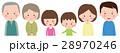 三世代 家族 男女のイラスト 28970246