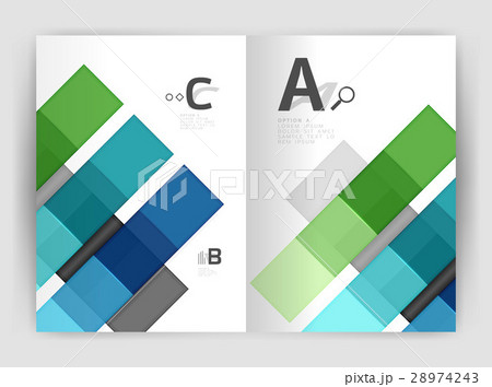 Business a4 business brochure geometrical templateのイラスト素材 [28974243] - PIXTA