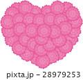 ベクター ハート 花のイラスト 28979253