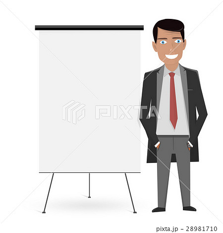 white board for the business presentation andのイラスト素材