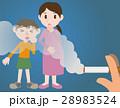 受動喫煙 タバコ 親子のイラスト 28983524
