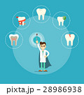 Dental health banner with male dentist 28986938