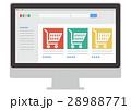 イラスト素材 ガジェット オンラインショップ パソコン 28988771