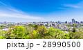 仙台城跡から眺める仙台の町並み 28990500
