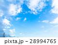 空 青い空 白い雲の写真 28994765