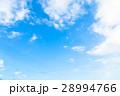 空 青い空 白い雲の写真 28994766