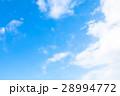 空 雲 青い空 白い雲 合成用背景素材 写真素材 28994772