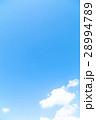 空 雲 青い空 白い雲 合成用背景素材 写真素材 28994789