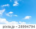 空 青い空 白い雲の写真 28994794