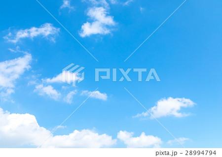 空 雲 青い空 白い雲 合成用背景素材 写真素材 28994794