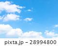 空 青い空 白い雲の写真 28994800