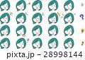 女性 顔 表情のイラスト 28998144