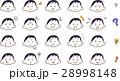 女性 顔 表情 アイコン セット ショートカット 28998148
