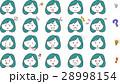 女性 顔 表情のイラスト 28998154