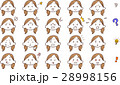 女性 顔 表情のイラスト 28998156