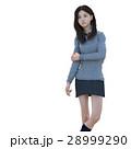 ポーズする制服の女子学生 perming 3DCG イラスト素材 28999290