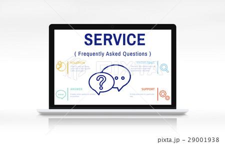 FAQs Customer Service Icon Concept 29001938