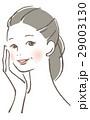 ベクター 女性 スキンケアのイラスト 29003130