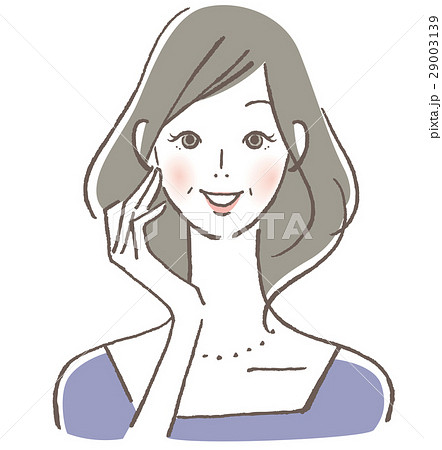 微笑む女性 中年 29003139