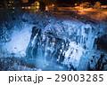滝 白ひげの滝 ライトアップの写真 29003285