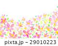 背景素材 花柄 模様のイラスト 29010223