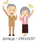 シニア 夫婦 老夫婦のイラスト 29010297