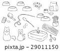 猫 猫用品 線画のイラスト 29011150