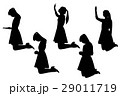 silhouette of woman 29011719