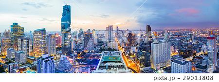Panorama bangkok city in business district area 29013808