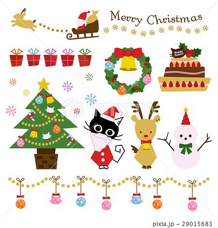 クリスマス ネコ イラスト セット 29015683