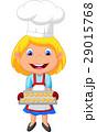 キッチン 台所 女の子のイラスト 29015768