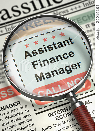 job opening assistant finance manager 3d のイラスト素材 29016105