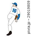 野球選手、右投げ、トルネード投法 29019809