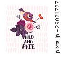 バラ 鳥 藪のイラスト 29021727