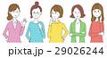 女性 グループ 噂のイラスト 29026244
