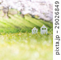 家 土手 桜の写真 29026849