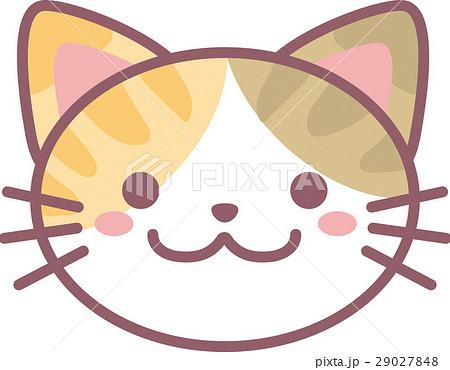 シマ三毛猫動物 猫 ねこ ネコ ネコの顔 ねこの顔 猫の顔 サバネコ さば